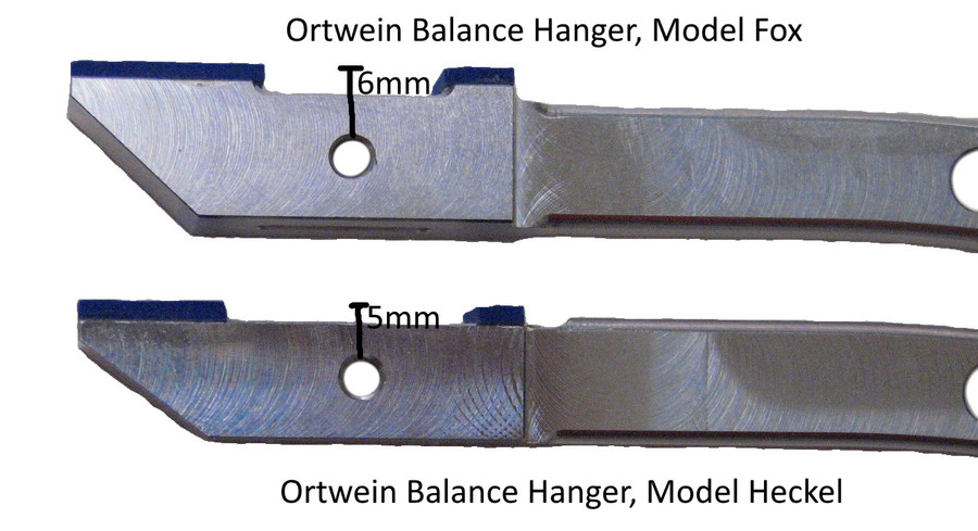 Ortwein Balance Hangers for Bassoon, slightly different locations for the hole for the locking screw