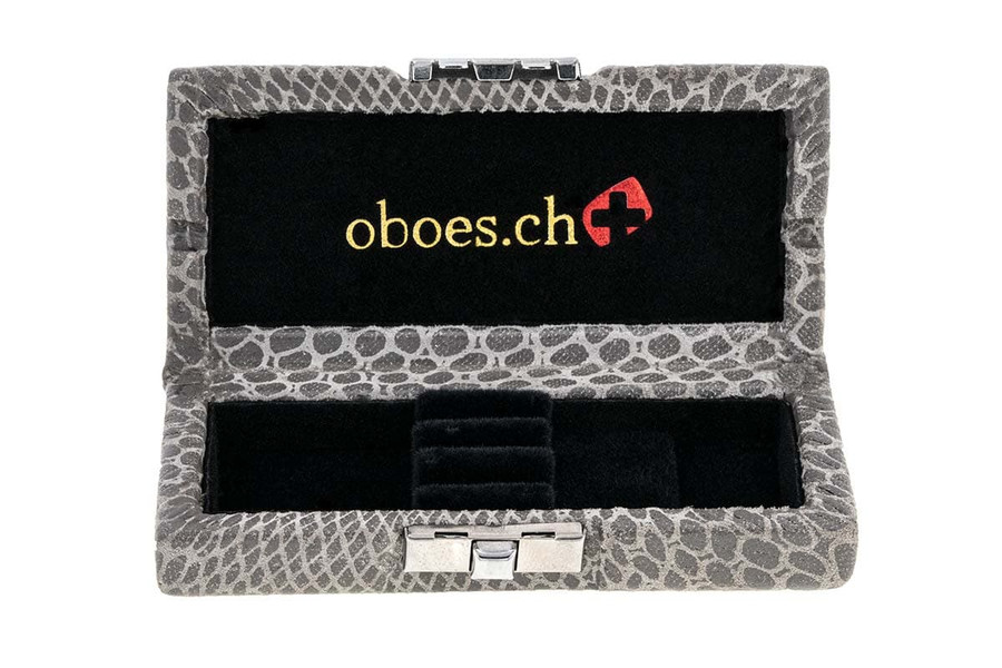 Oboes.ch 3-reed oboe reed case - Snakeskin