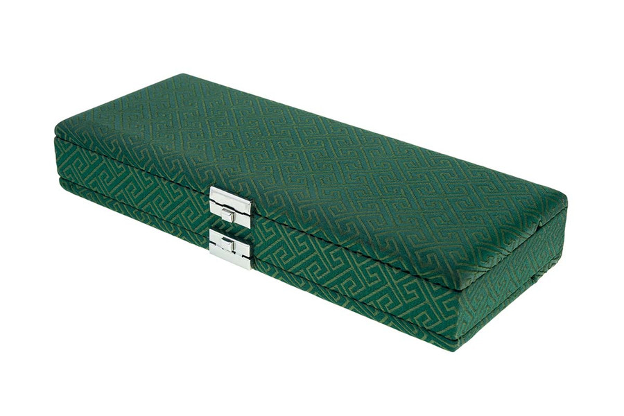50-Reed Oboe Reed Case - Silk Green Egyptian Design