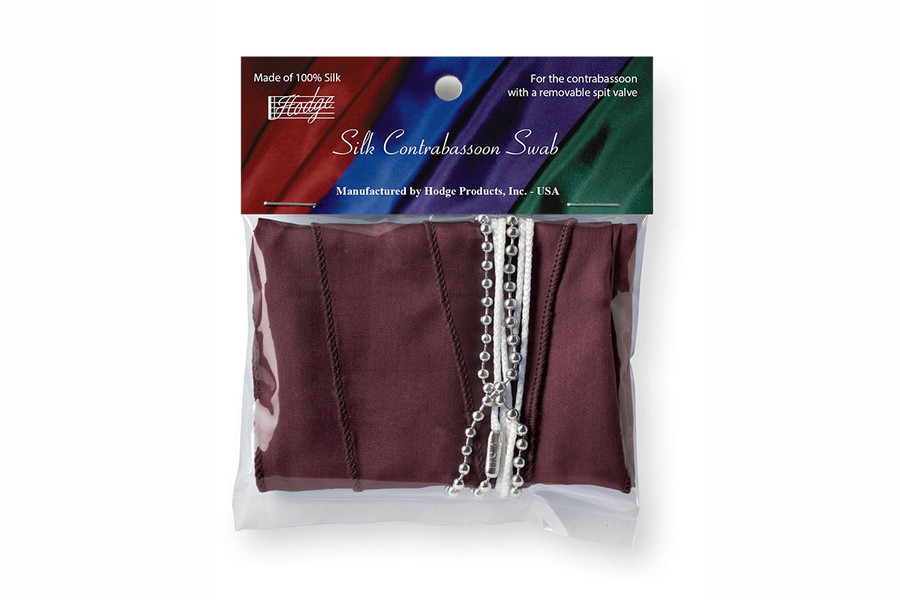 Hodge Silk Contrabassoon Swab, Burgundy