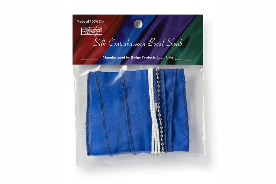 Hodge Silk Contrabassoon Bocal Swabs, Royal Blue
