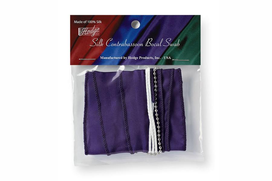 Hodge Silk Contrabassoon Bocal Swab, Deep Purple
