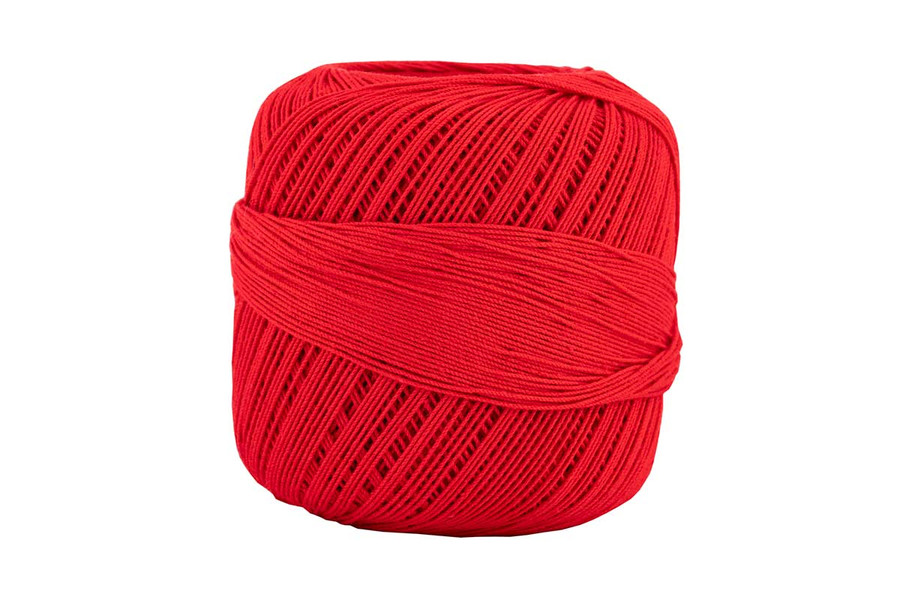 Omega #10 Cotton Thread, 173 yds - Red