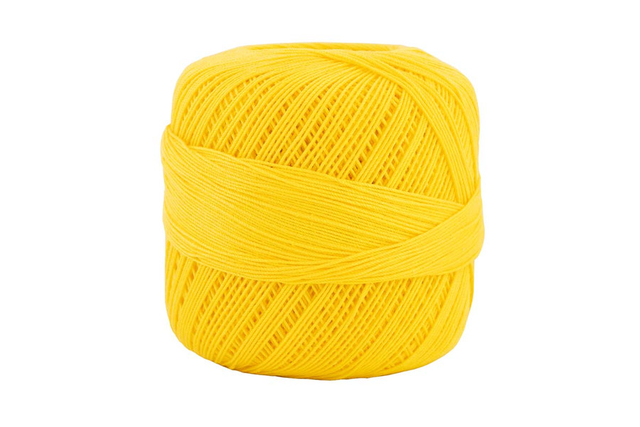 Omega #10 Cotton Thread, 173 yds - Bright Yellow