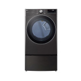 LG 7.4 cu. ft. Ultra Large Capacity Smart wi-fi Enabled Front Load Electric Dryer with TurboSteam™ and Built-In Intelligence