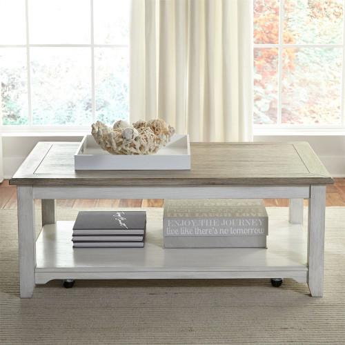 Rectangular Cocktail Table - White