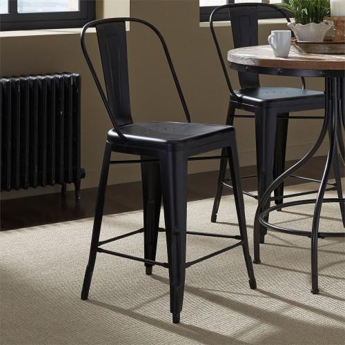 Bow Back Counter Chair - Black (Rta) - Black
