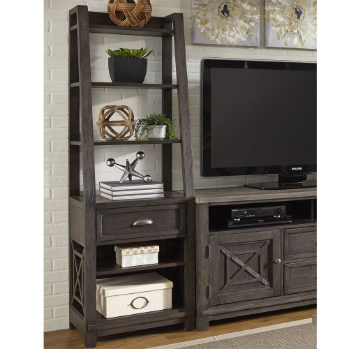 Leaning Bookcase Pier - Black