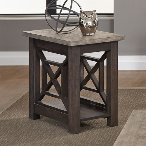 Chair Side Table - Brown