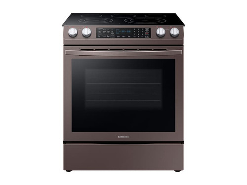Samsung 5.8 cu. ft. Slide-In Electric Range in Tuscan Stainless Steel