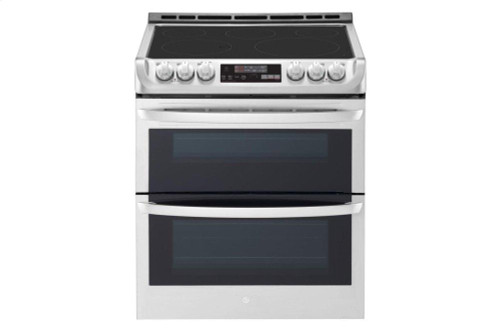 7.3 cu. ft. Smart wi-fi Enabled Electric Double Oven Slide-In Range with ProBake Convection(R) and EasyClean(R)
