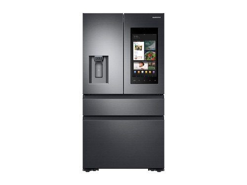 22 cu. ft. Family Hub(TM) Counter Depth 4-Door French Door Refrigerator in Black Stainless Steel