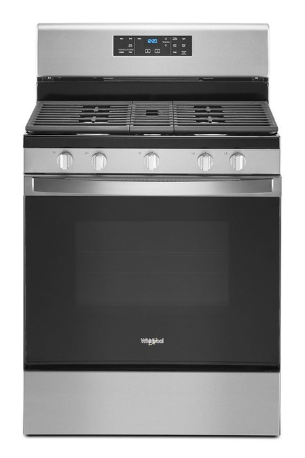 5.0 cu. ft. Whirlpool(R) gas range with center oval burner