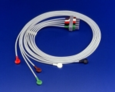5 - Lead ECG Lead Set with Snaps M1625A