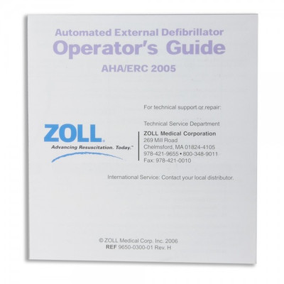Zoll Operator's Guide Wall Poster