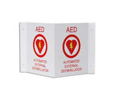 Zoll AED Plus 3-D Wall Sign