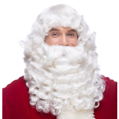 Santa Wig and Beard Set - Synthetic JX