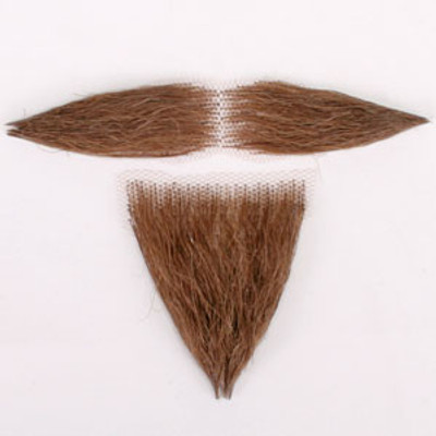 Wild West Moustache and Goatee Set