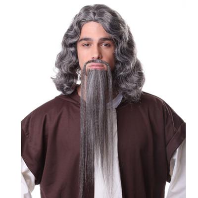 Fu Manchu Moustache Goatee Set