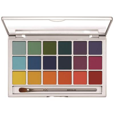 Kryolan 18 Color Eye Shadow Palette - Variety 2