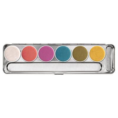 Kryolan Aquacolor Interferenz Palette - 6 Color