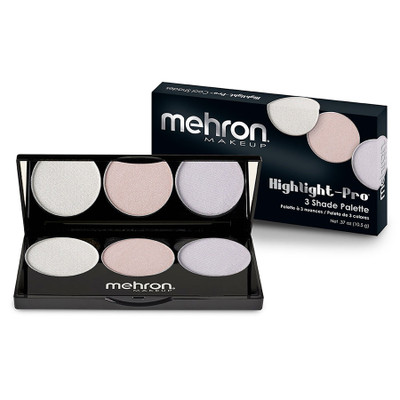 Mehron Highlight Pro 3 Color Cool Palette