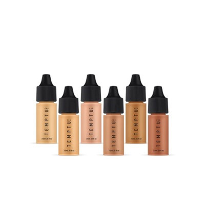 TEMPTU Perfect Canvas Hydra Lock Airbrush Foundation Kit-Medium/Tan 6 pack