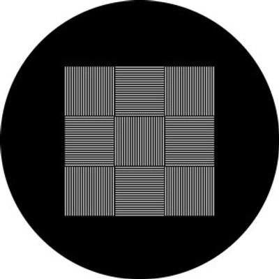 Striped 9 Square - Rosco Gobo #78578