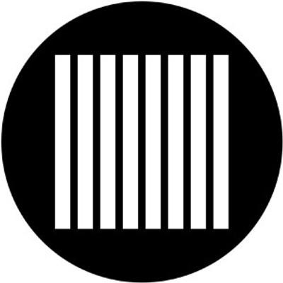 Jail Bars Vertical - Rosco Gobo #79655