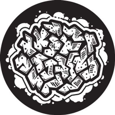 Abstract Graffiti 4 - Rosco Glass Gobo #81248