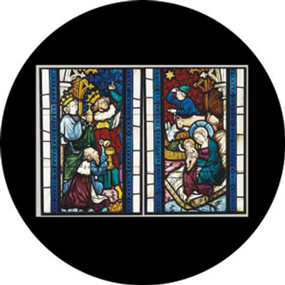 Nativity Stained Glass - Rosco Color Glass Gobo #86674