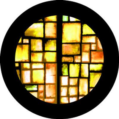 Amber Squares - Rosco Color Glass Gobo #86752