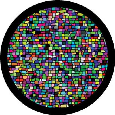 Mosaic Tile Breakup - Rosco Color Glass Gobo #86757