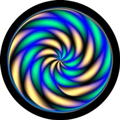 Caterpillar Swirl - Rosco Color Glass Gobo #86795