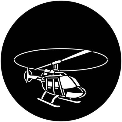 Aircraft Helicopter - Apollo Gobo #3405
