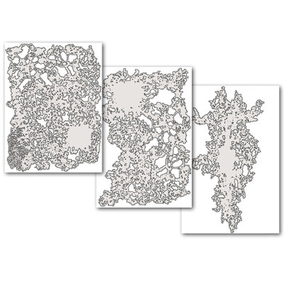 Artool Texture FX Freehand Airbrush Templates  Size  Set of 3 Mini Series