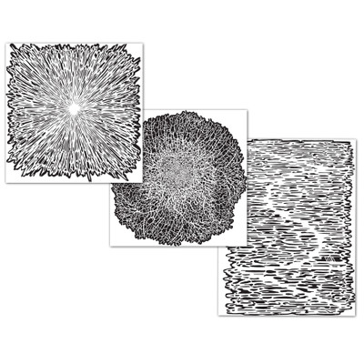 Artool Texture FX2 Freehand Airbrush Templates| Size| Set of 3 Mini Series