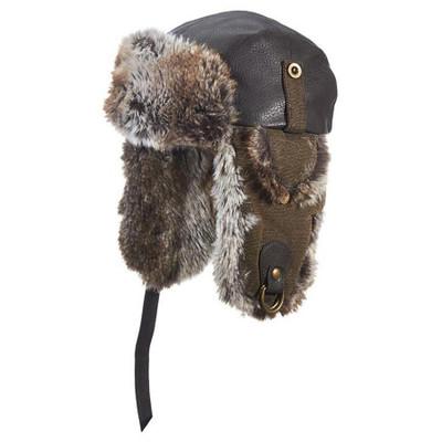 Brown Trooper Hat - Faux Fur/Leather