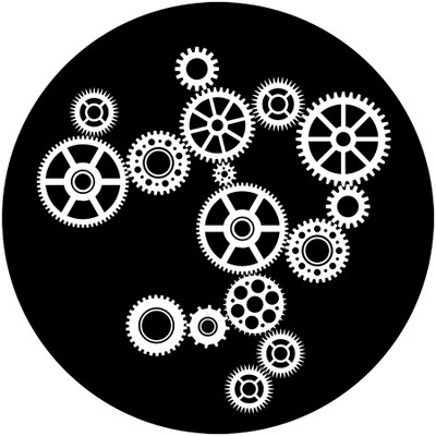 Adjust Gears - Apollo Glass Gobo #SR-6104