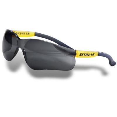 SetWear Safety Glasses, Smoke