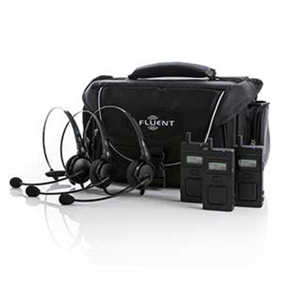 Fluent Stagecomm 3 User Wireless System With Headsets