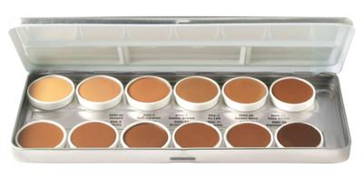 Ben Nye Matte HD Foundation Palette - 12 Olive-Brown Shades