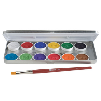 Ben Nye MagiCake Aqua Paints Palette 12 Colors
