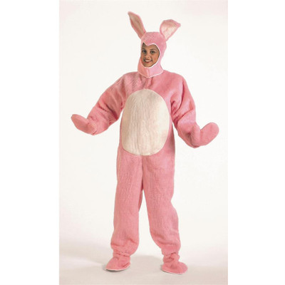 Adult Bunny Suit with Hood - Pink