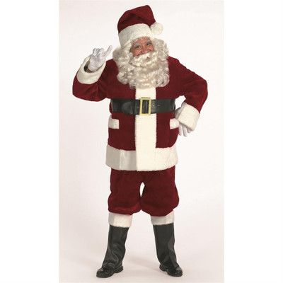 Burgundy Deluxe Santa Suit with Outside Pocket