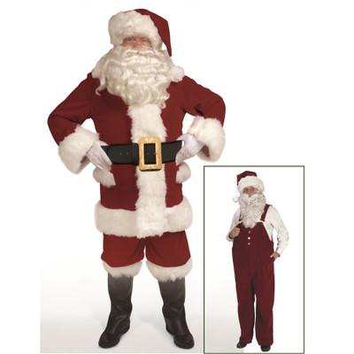 Burgundy Velvet Overalls Santa