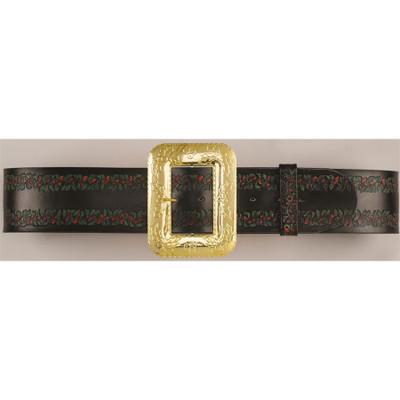 Embossed Leather Santa Belt, One Size
