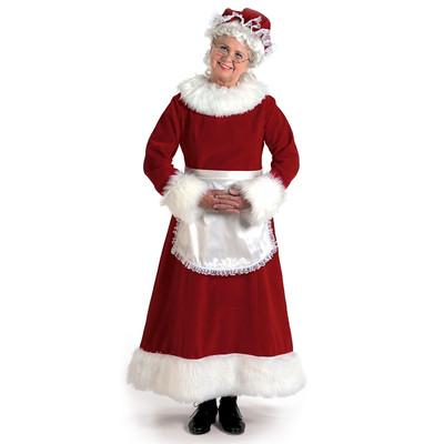 Burgundy Velvet Mrs. Claus