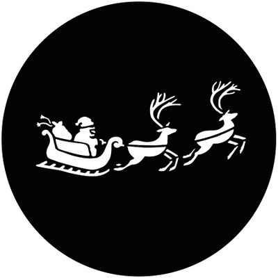 Santas Sleigh - GAM Gobo #828
