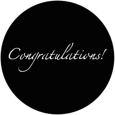 Congratulations! - GAM Gobo #921